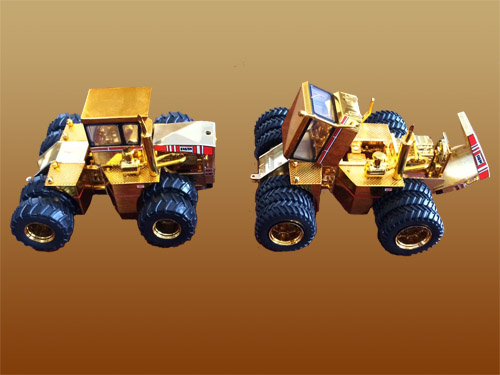 Big Bud 1/64 525/50 4WD Dual and Triple In Gold – SET